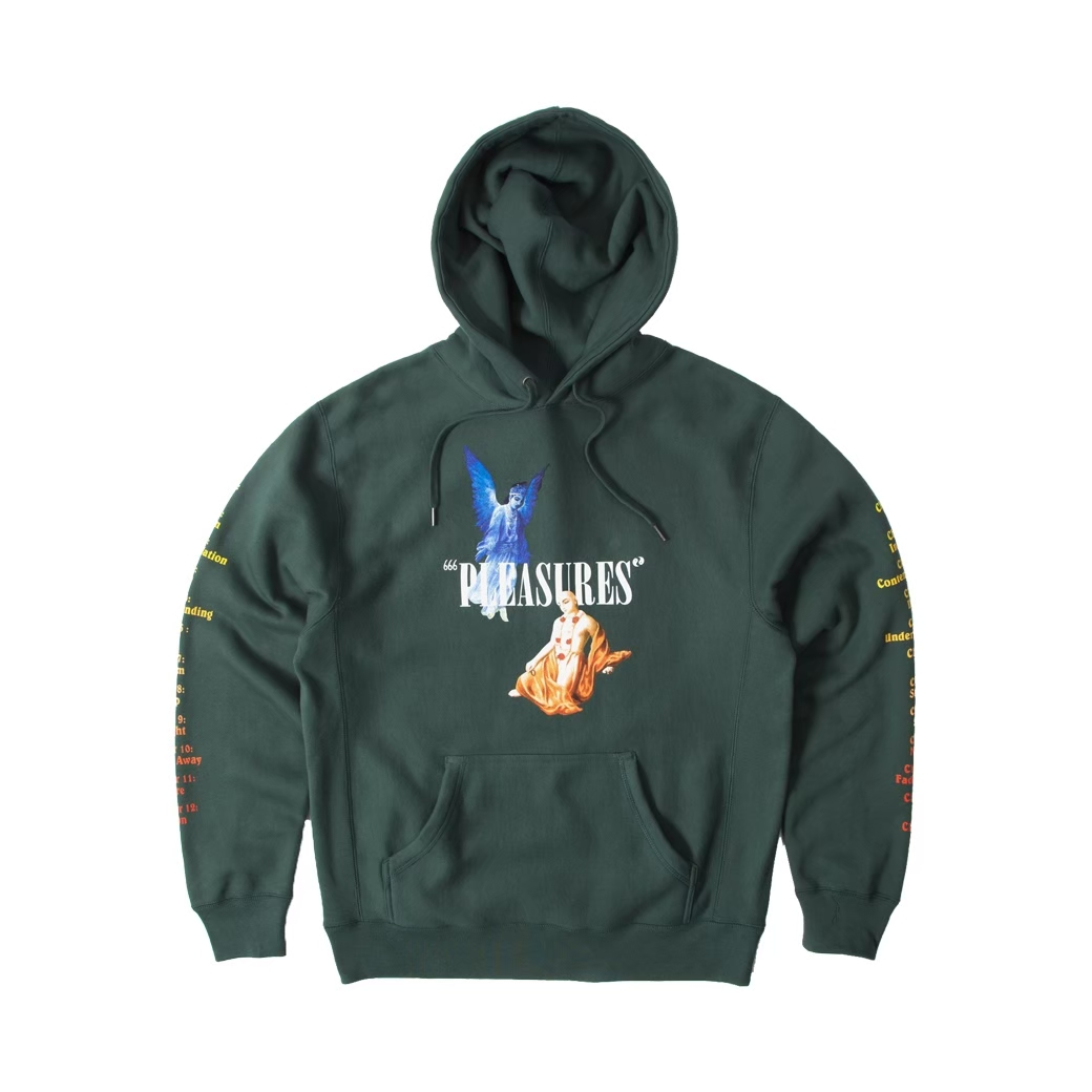 PLEASURES RETURN PREMIUM HOODIE GREEN