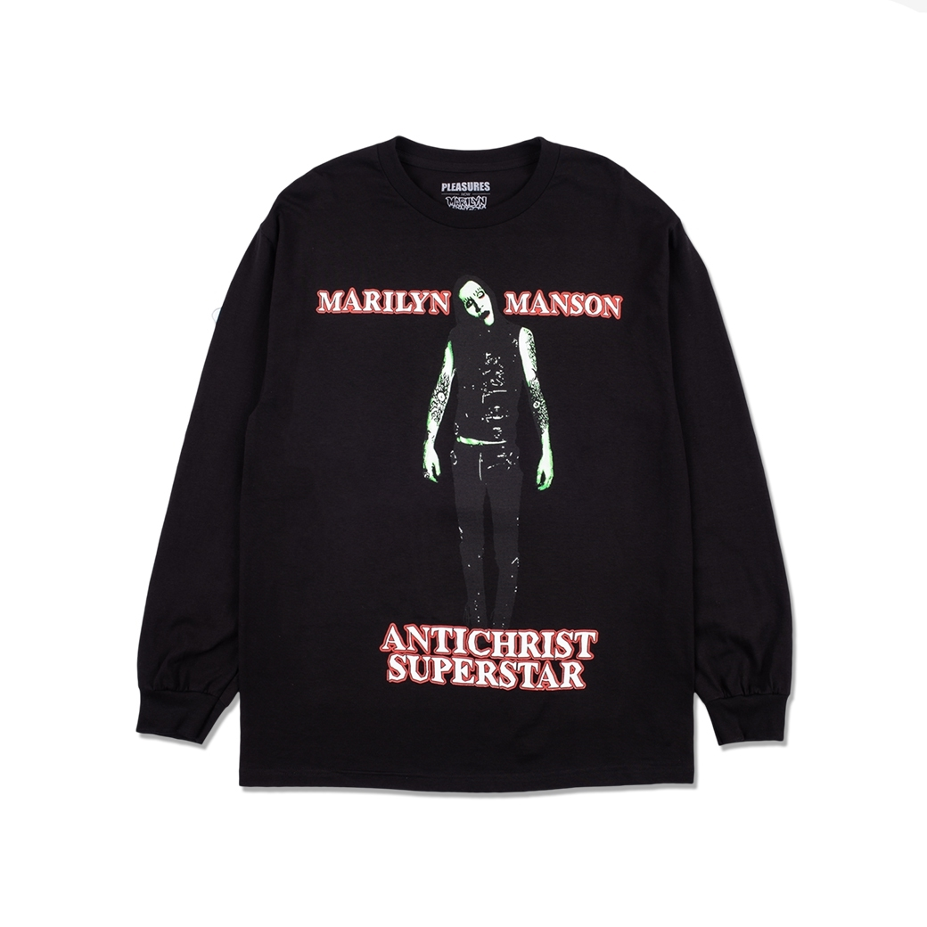 PLEASURES X MARILYN MANSON SUPERSTAR L/S BLACK