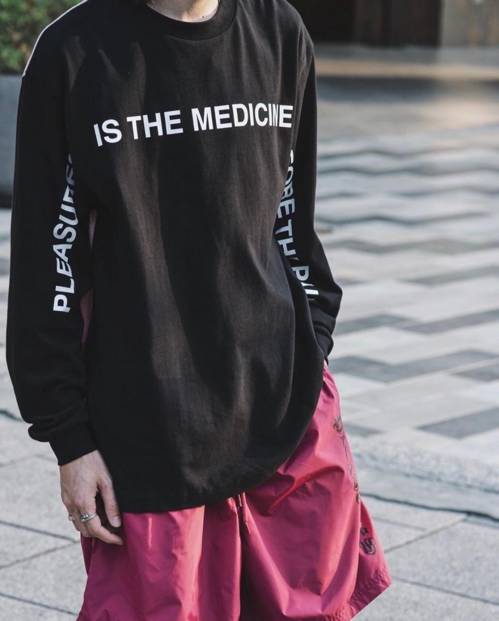 PLEASURES MEDICINE PREMIUM L/S SHIRTS BLACK