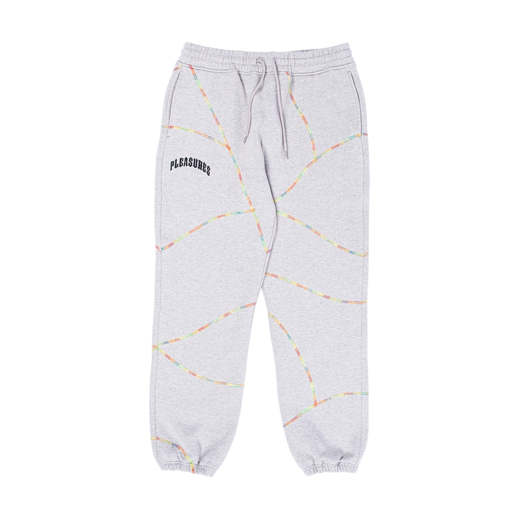PLEASURES DESTROYER CONTRAST STITCH SWEATPANTS GREY