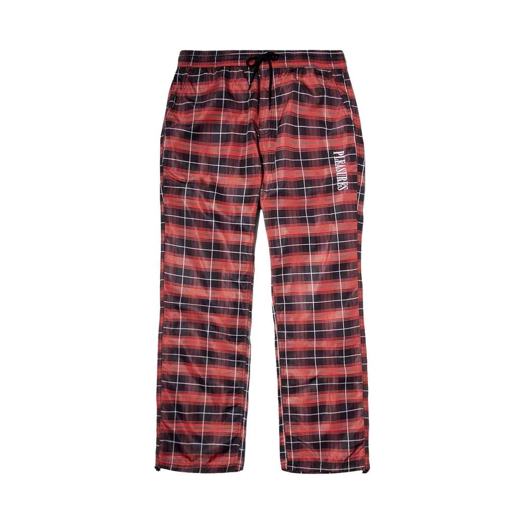 PLEASURES WONDER TRACK PANTS RED