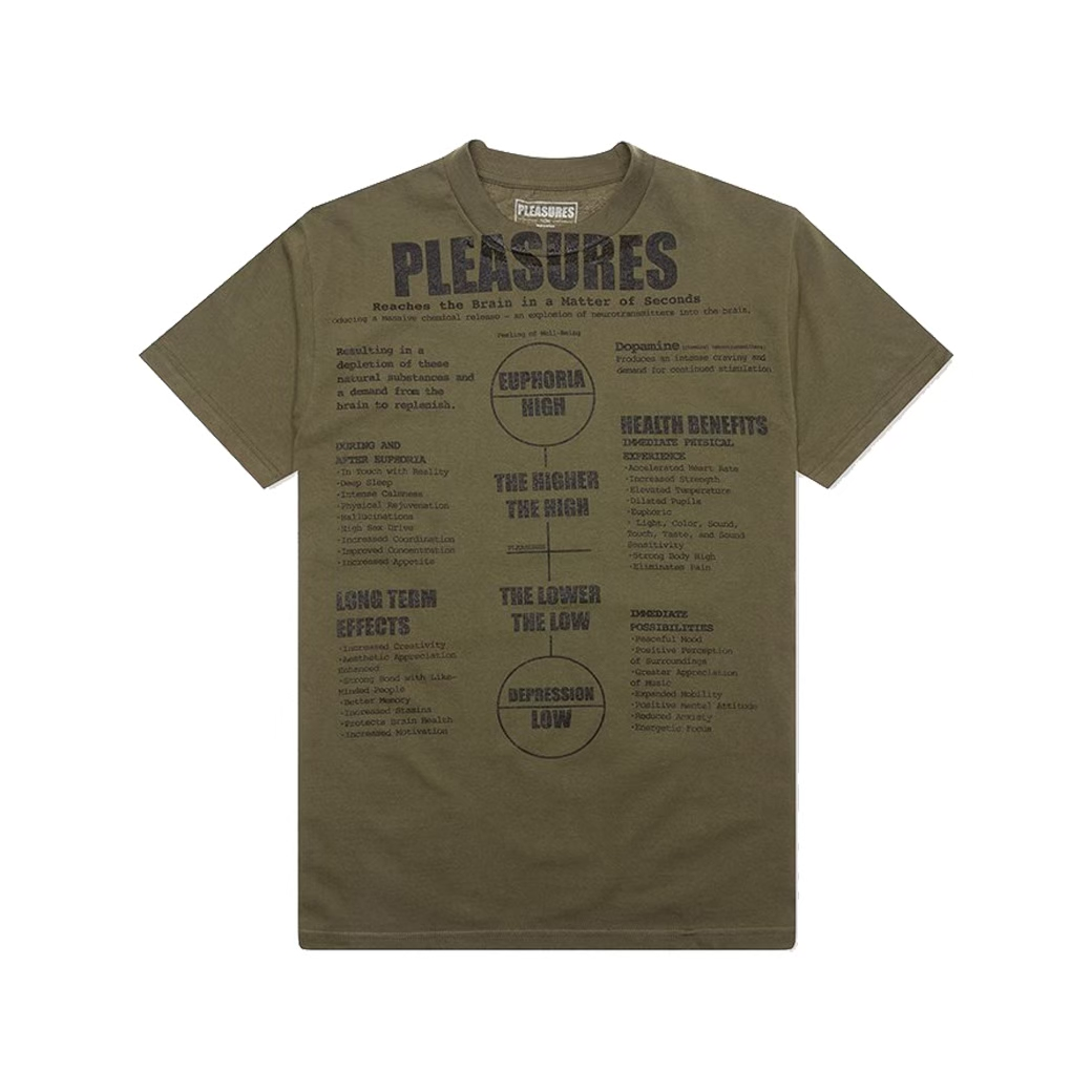 PLEASURES HIGHER SP20 TEE GREEN