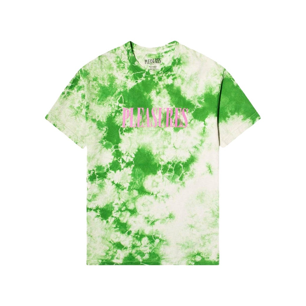 PLEASURES AROMA CRYSTAL DYE T-SHIRT NUTURAL GREEN
