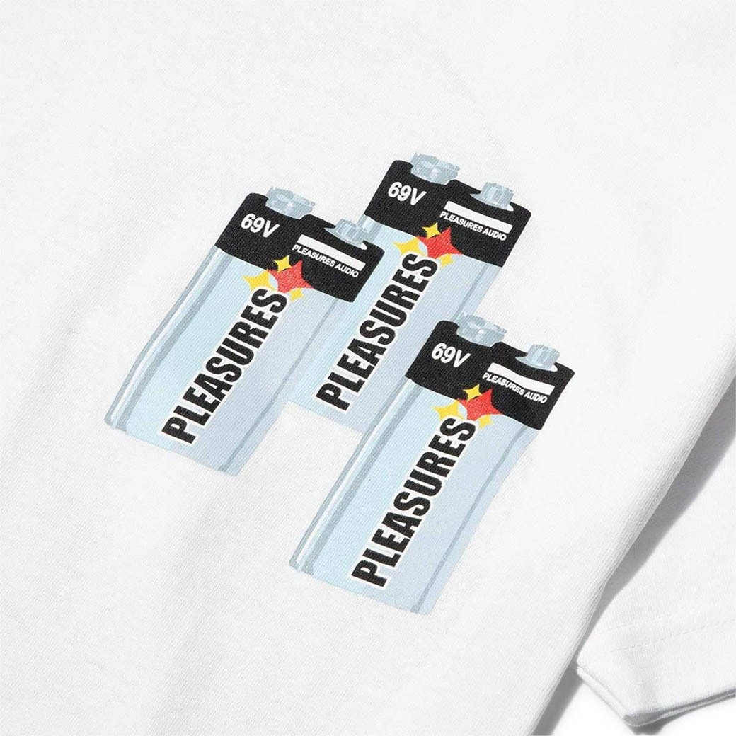 PLEASURES CHARGE T-SHIRT WHITE