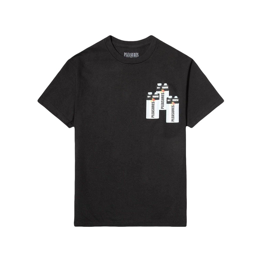 PLEASURES CHARGE T-SHIRT BLACK