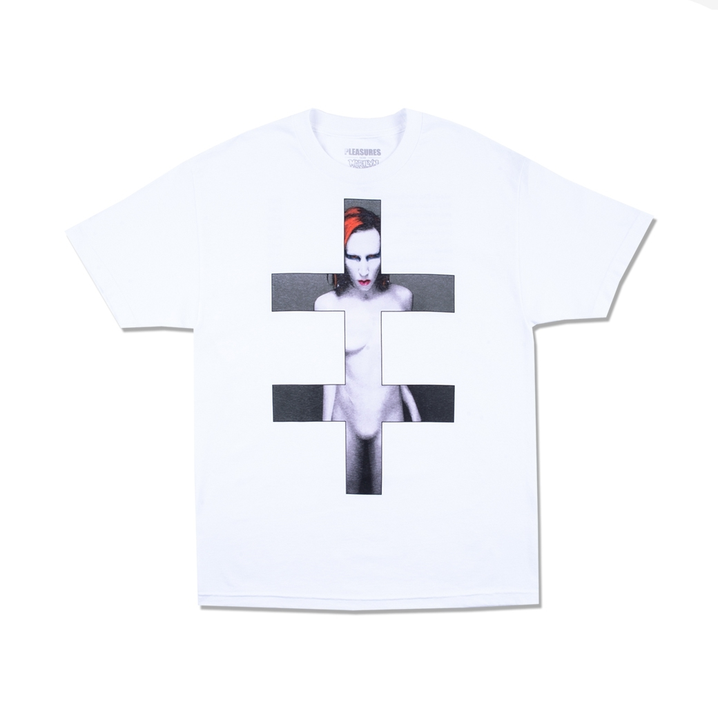 PLEASURES X MARILYN MANSON SMELLS T-SHIRT WHITE