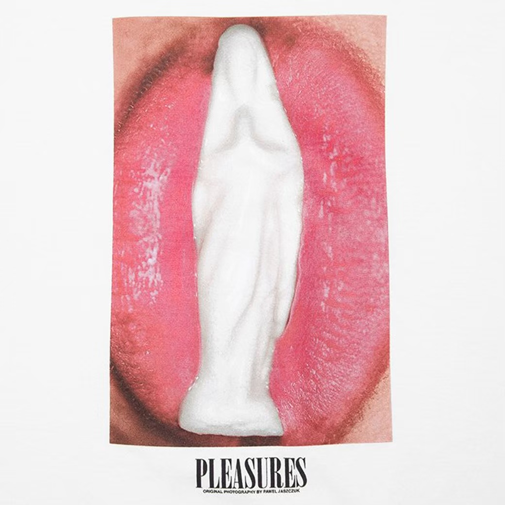 PLEASURES PRAY TEE WHITE