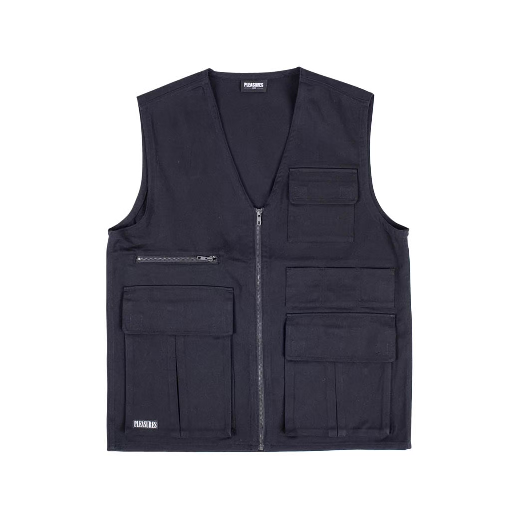 PLEASURES FADE TACTICAL VEST BLACK