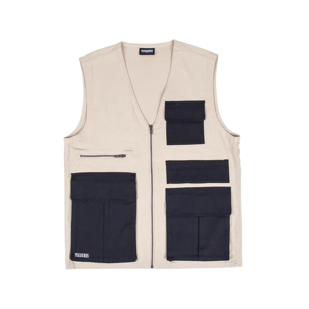 PLEASURES FADE TACTICAL VEST BEIGE