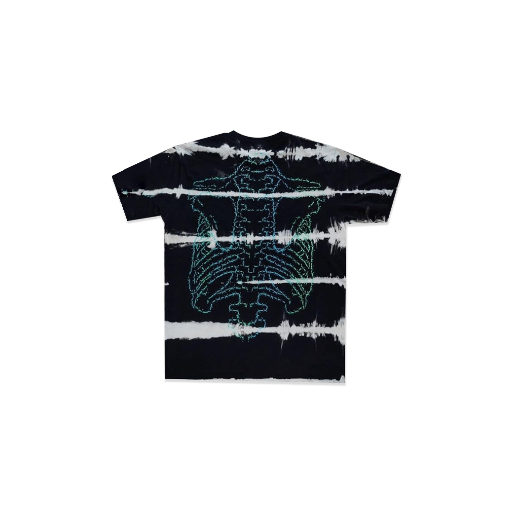 RAGE & LOVE STRIPE ACID BARBWIRE SKELETON TEE MULTI