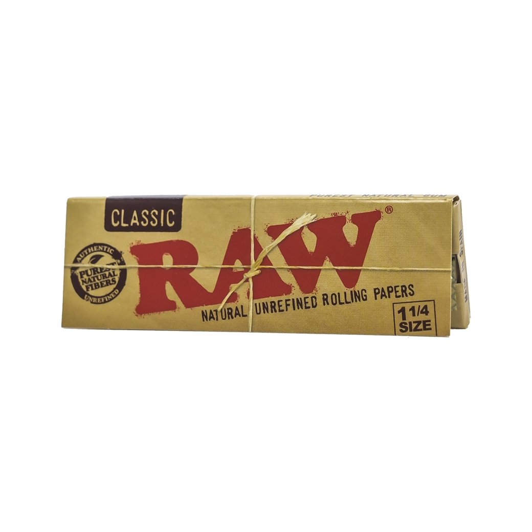 RAW CALSSIC NATURAL UNREFINED ROLLING PAPAERS 1/4
