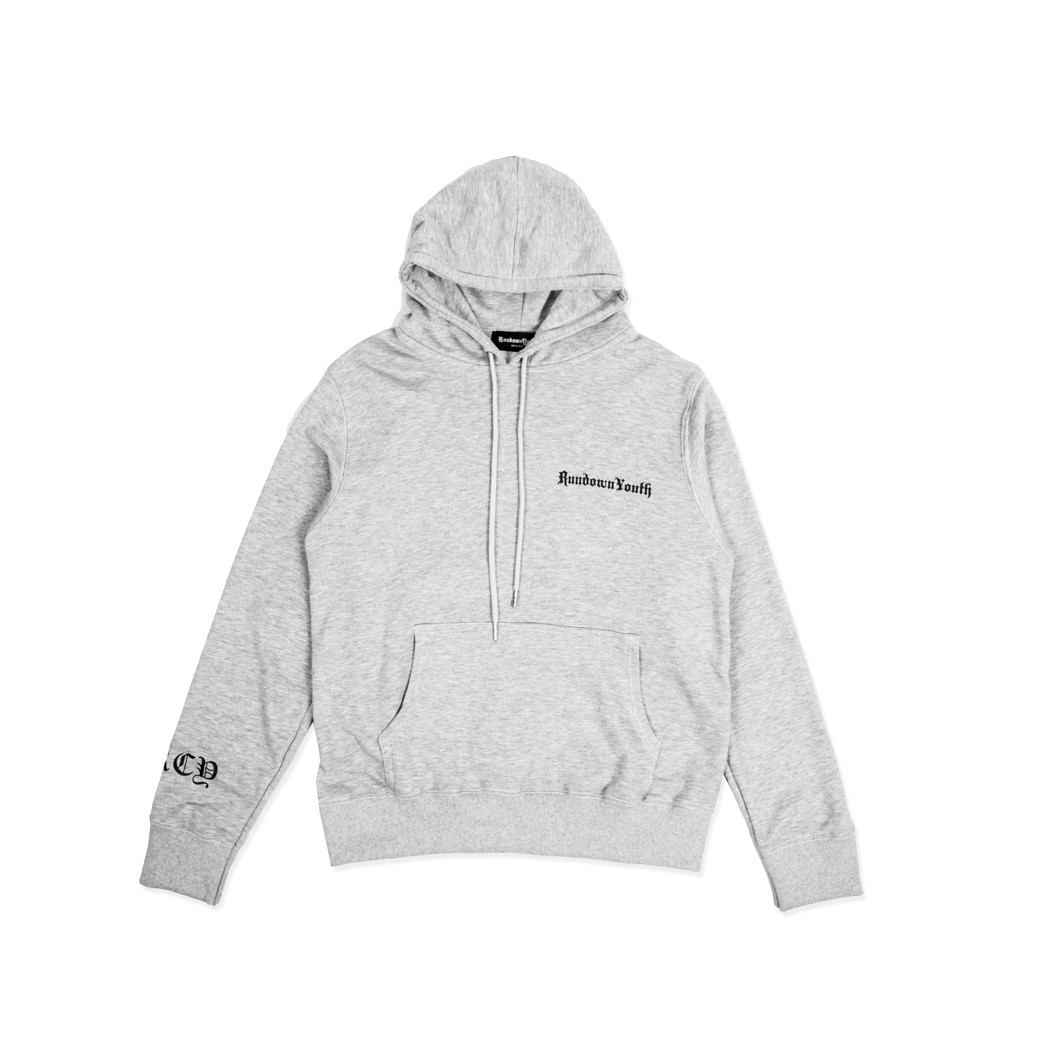 RUNDOWNYOUTH OLD SKOOL HOODIE GREY
