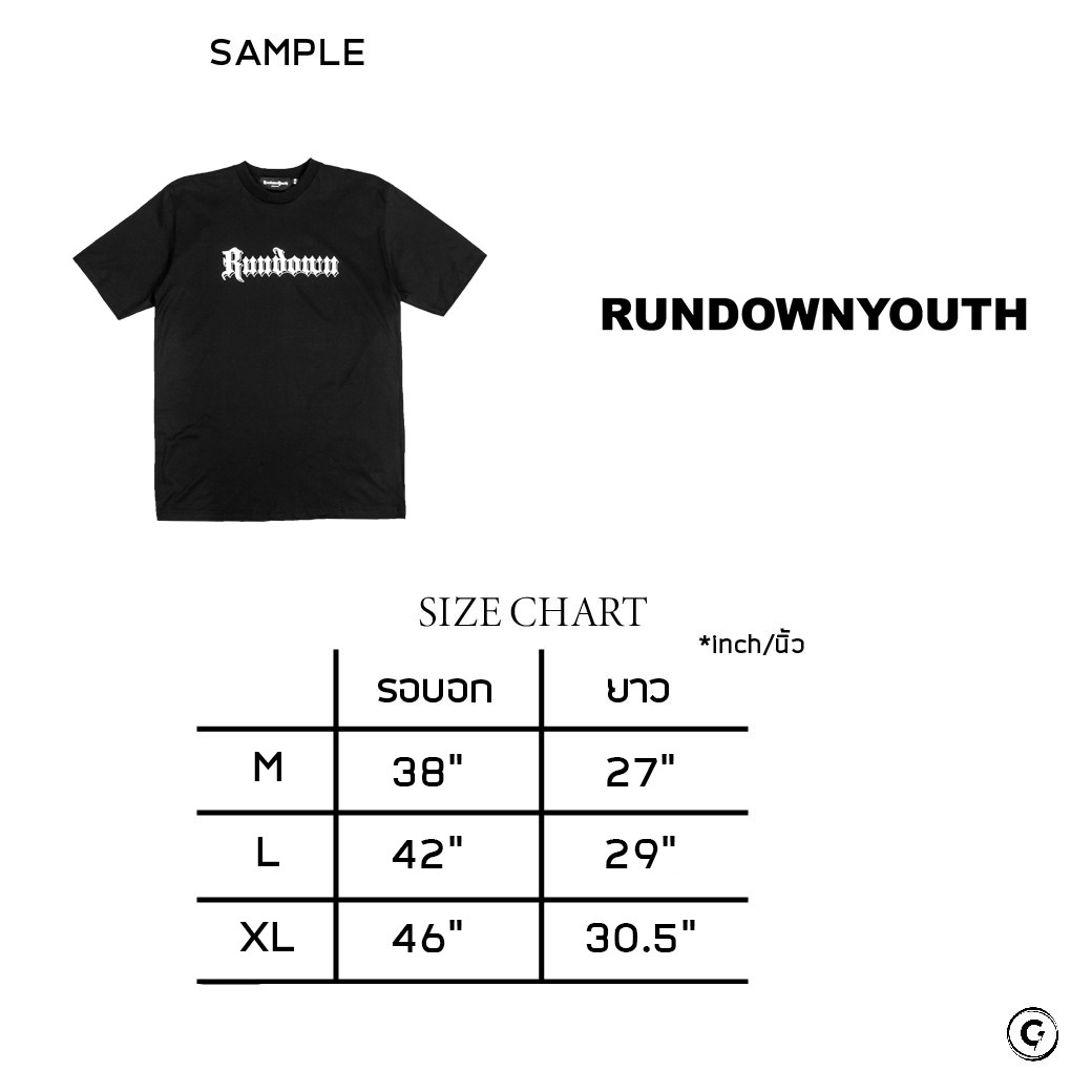 RUNDOWNYOUTH CLASSIC LOGO T-SHIRT BLACK