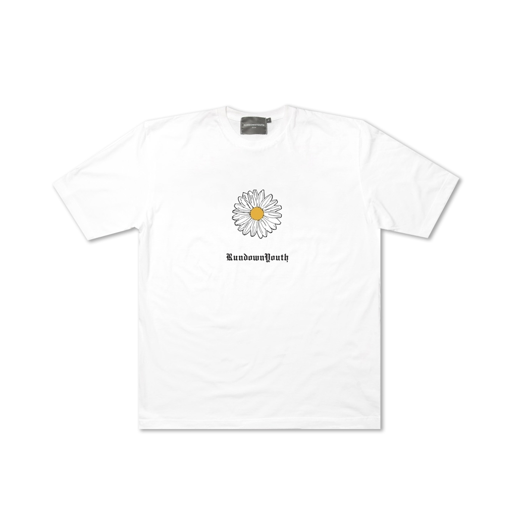 RUNDOWNYOUTH DAISY TEE WHITE
