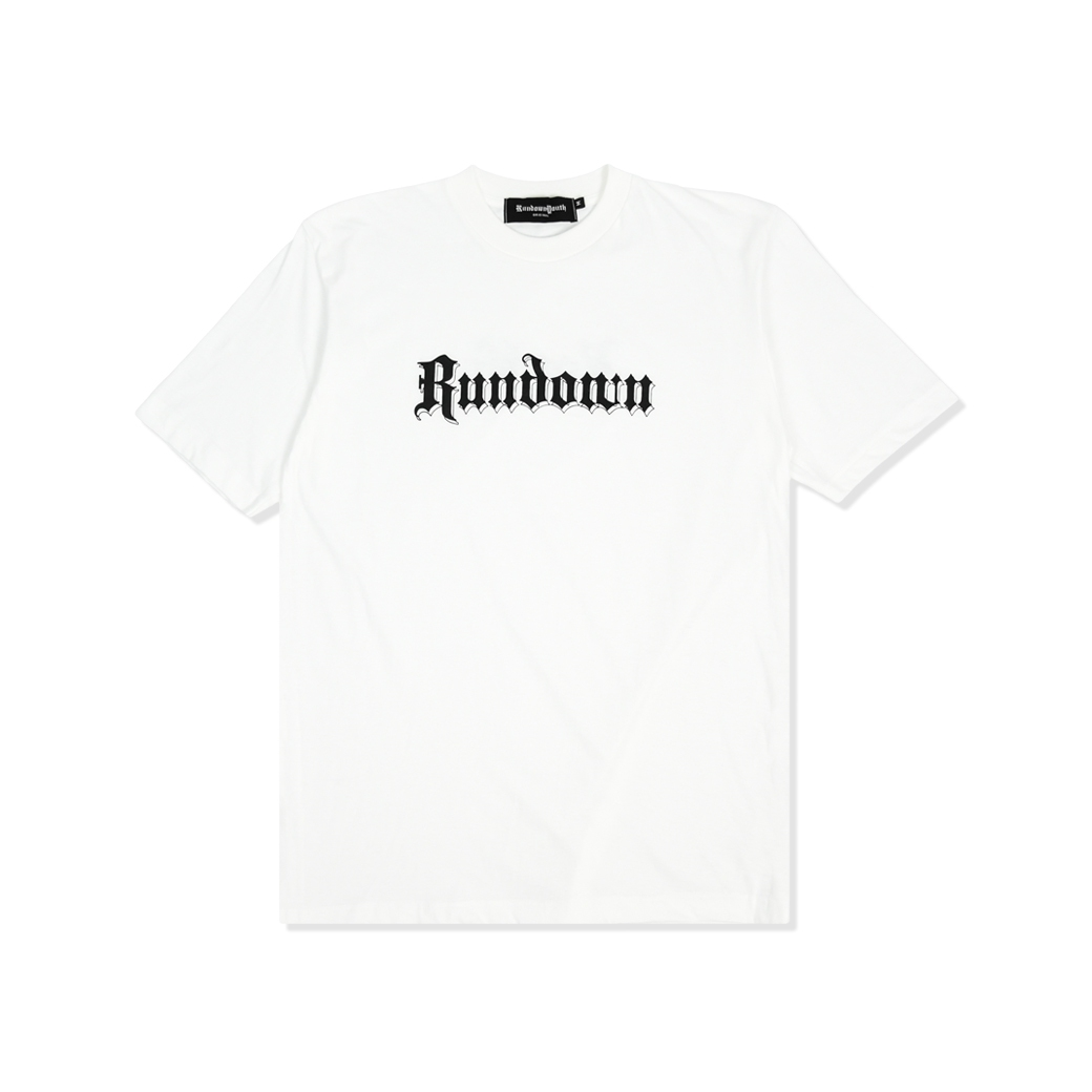 RUNDOWNYOUTH LOGO TEE WHITE