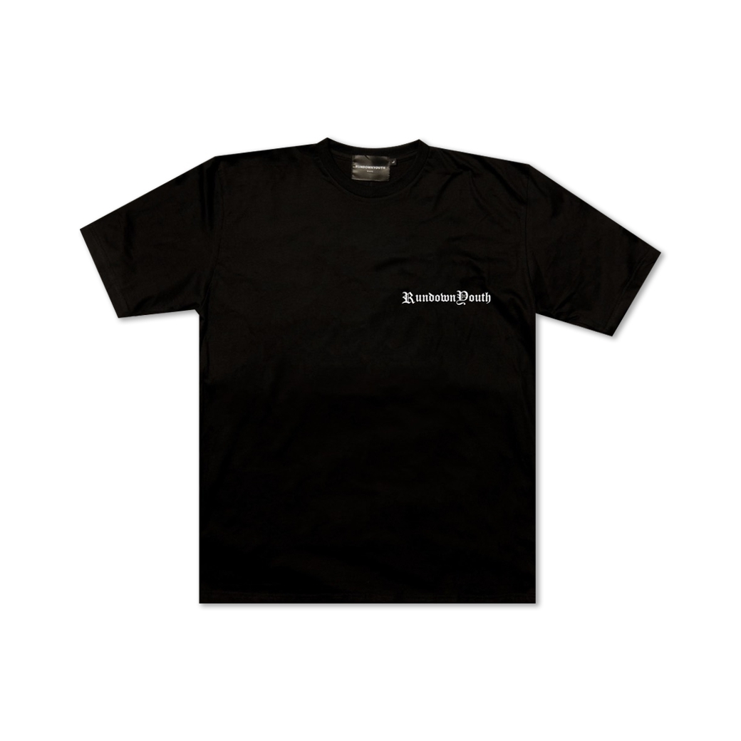 RUNDOWNYOUTH UNDERGROUND TEE BLACK