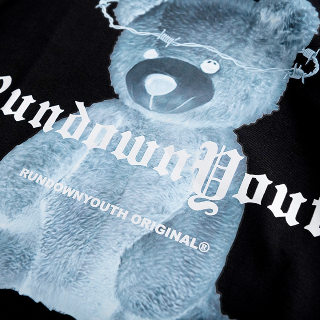 RUNDOWNYOUTH X-RAY TEDDY T-SHIRT BLACK