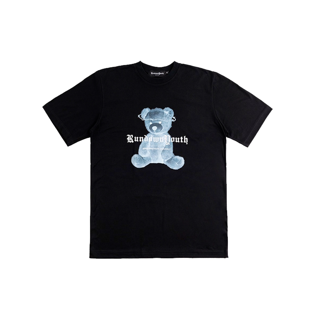 RUNDOWNYOUTH X-RAY TEDDY TEE BLACK