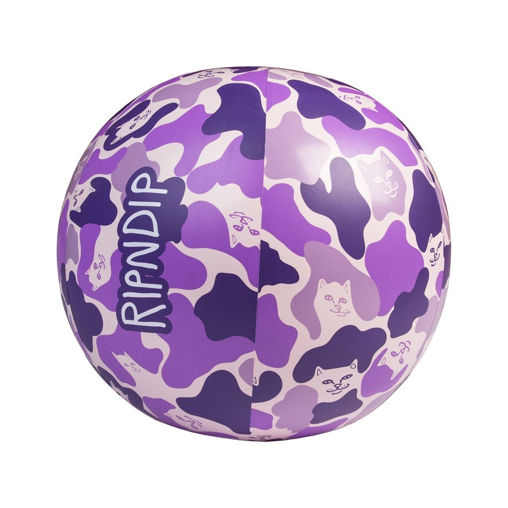 RIPNDIP BEACH BUM BEACH BALL PURPLE/CAMO