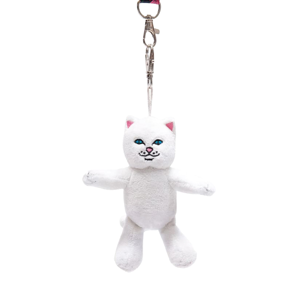 RIPNDIP LORD NERM MINI PLUSH KEY CHAIN WHITE