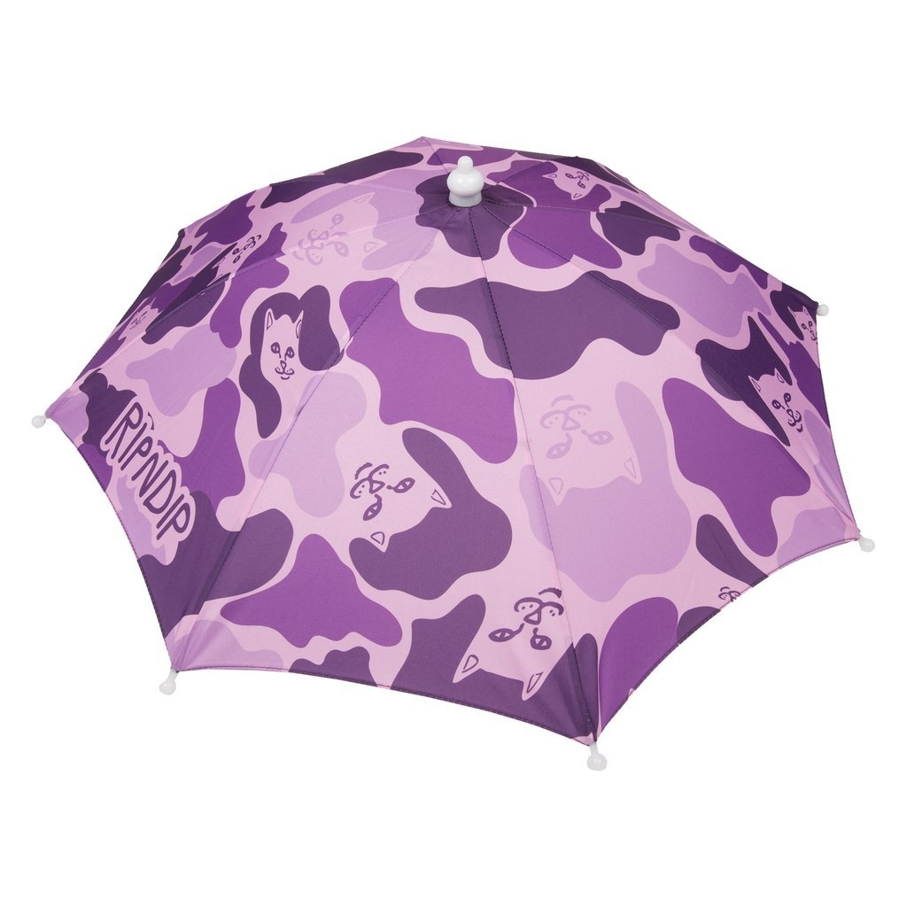 RIPNDIP REAL SHADEY UMBRELLA HAT PURPLE/CAMO