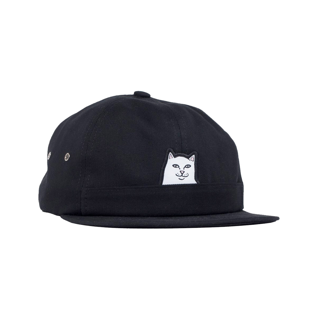 RIPNDIP LORD NERMAL 6 PANEL HAT BLACK