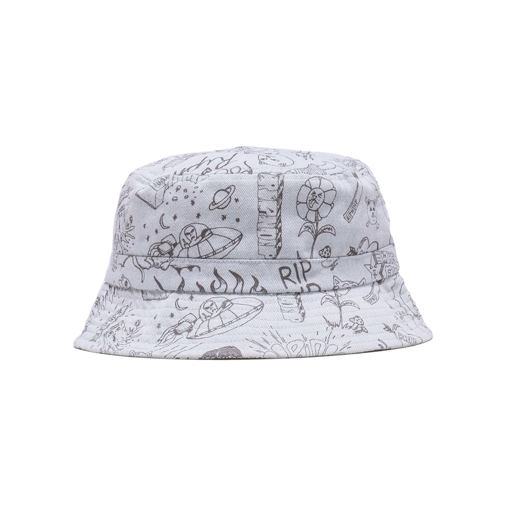 RIPNDIP SHARPLE BUCKET HAT LIGHT DENIM WASH