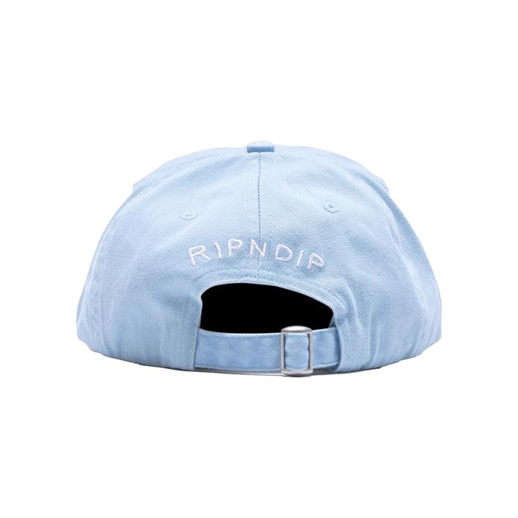 RIPNDIP CAPTAIN NERMAL PANTS DAD HAT LIGHT BLUE