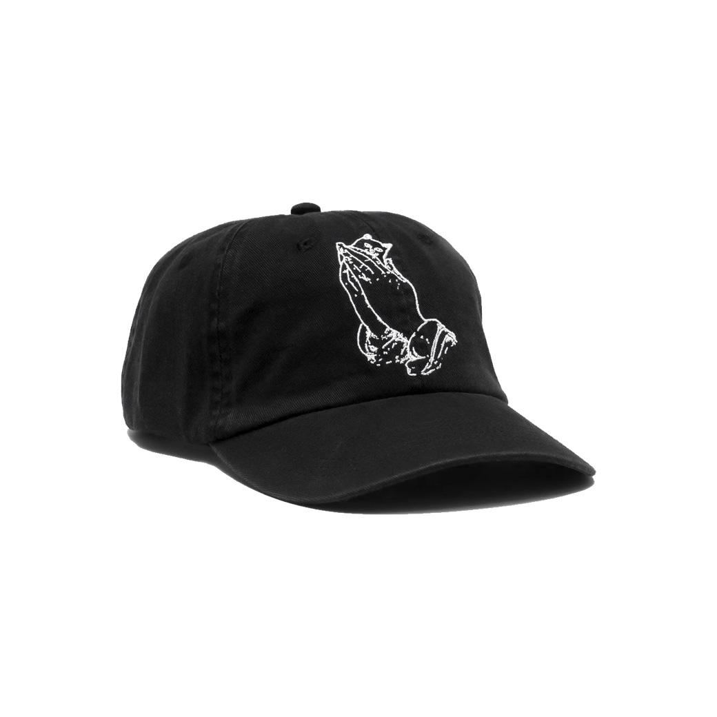 RIPNDIP PRAYING HANDS DAD HAT BLACK