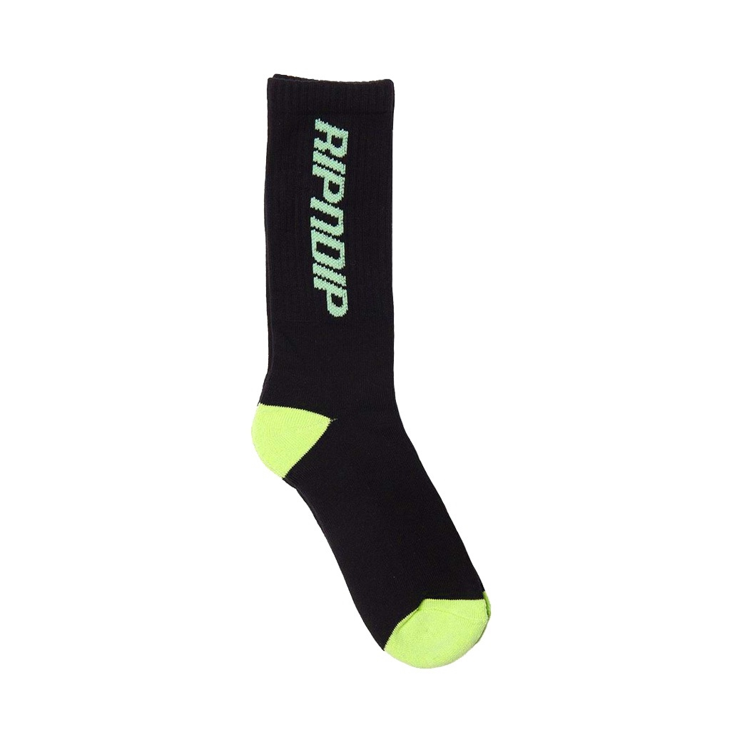 RIPNDIP FAST SOCKS BLACK/GREEN