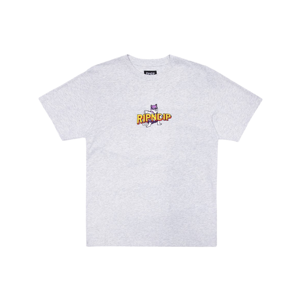 RIPNDIP CAPTAIN NERMAL PANTS EMBROIDERED ART T-SHIRT GREY