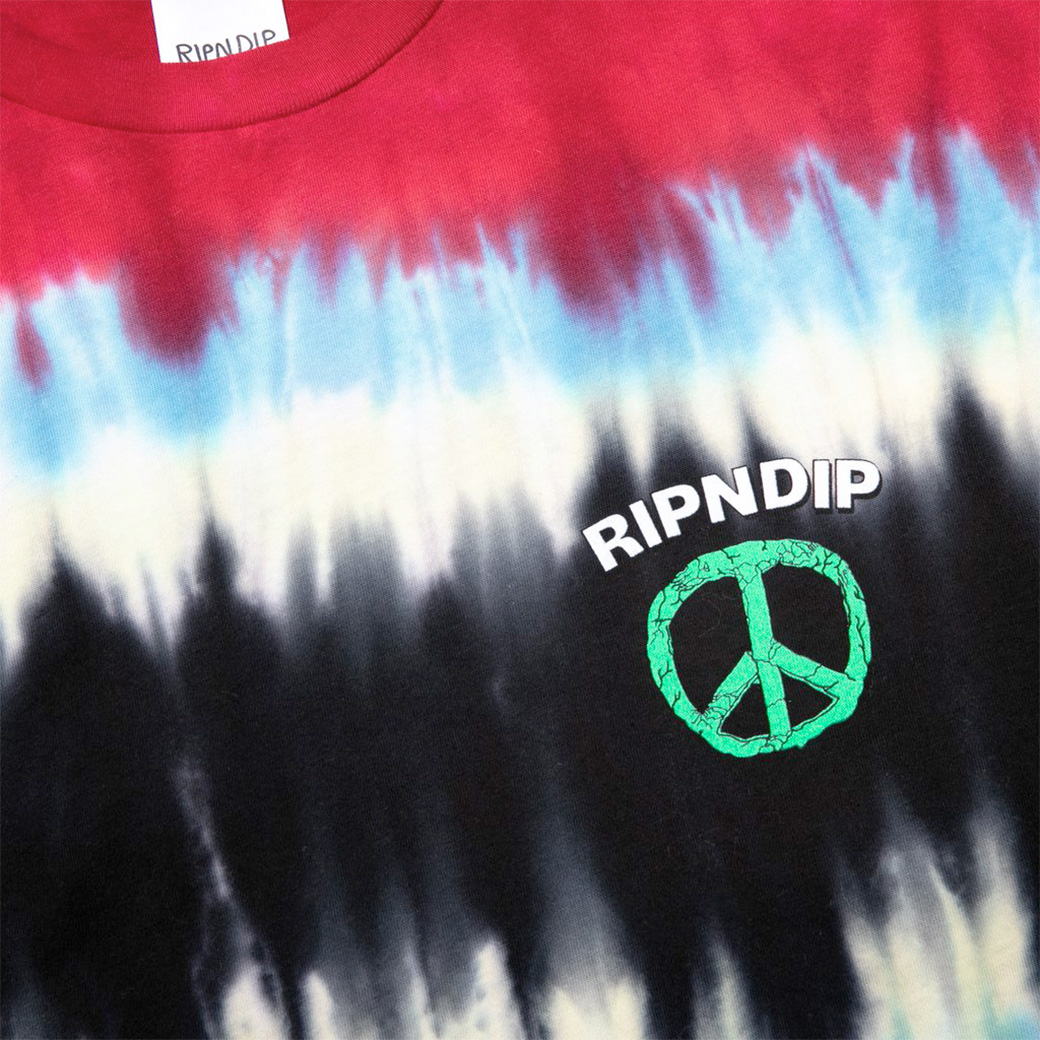RIPNDIP PEACE NO LOVE T-SHIRT TIE DYE