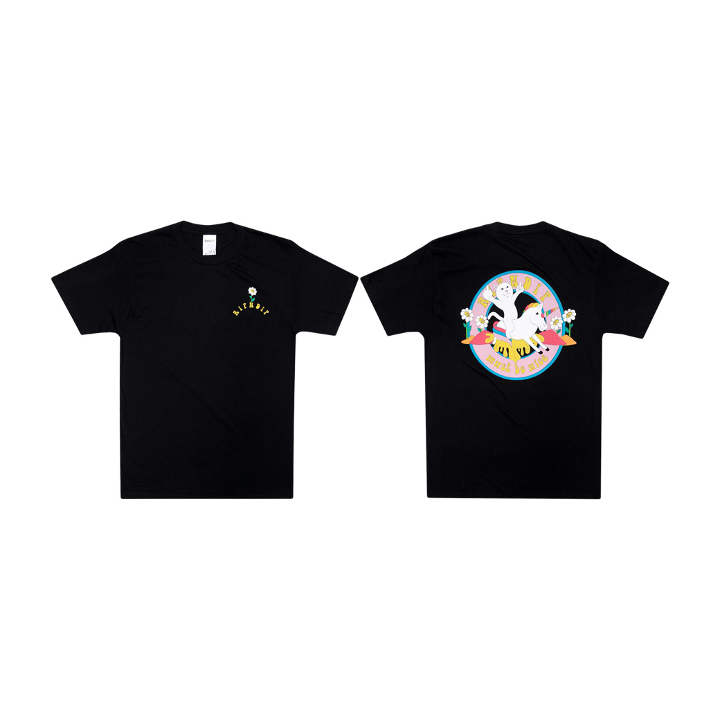 RIPNDIP UNICORN RIDER T-SHIRT BLACK