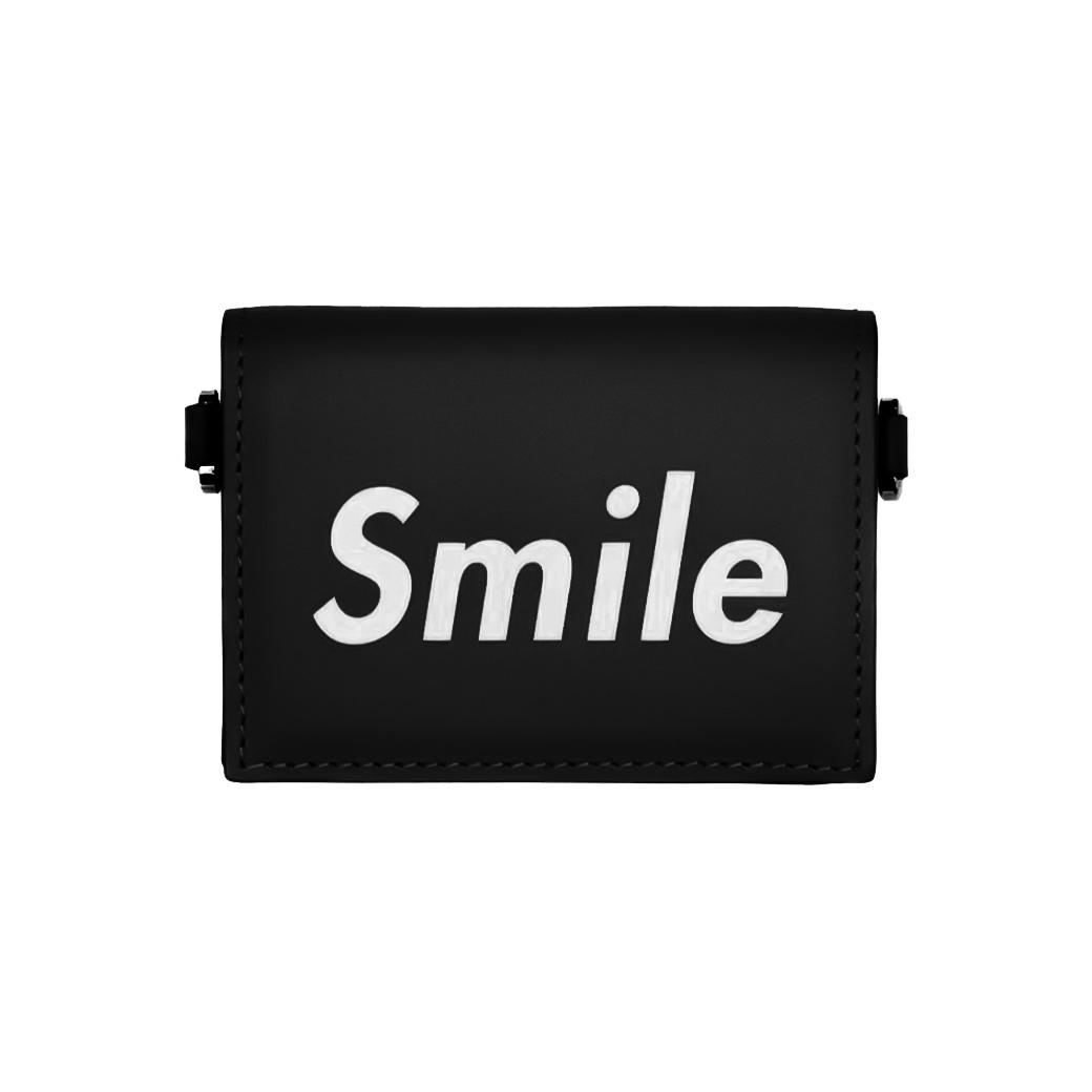 SMILE CLUB CUSTOM MINI WALLET BLACK
