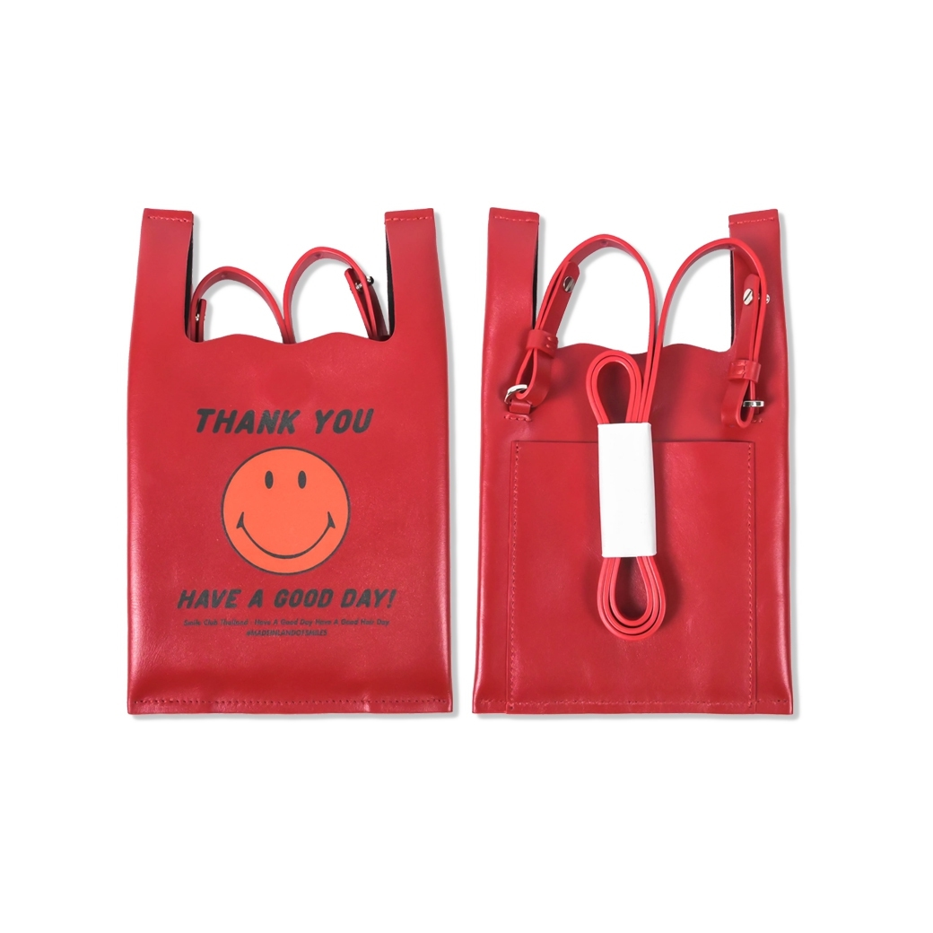 SMILE CLUB CUSTOM SHOPING BAG WALLET RED