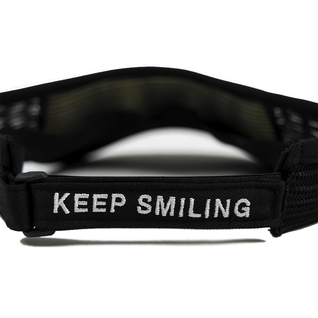 SMILE CLUB CUSTOM FUNNY CAP TRUCKER VISOR MIX LOGO BLACK