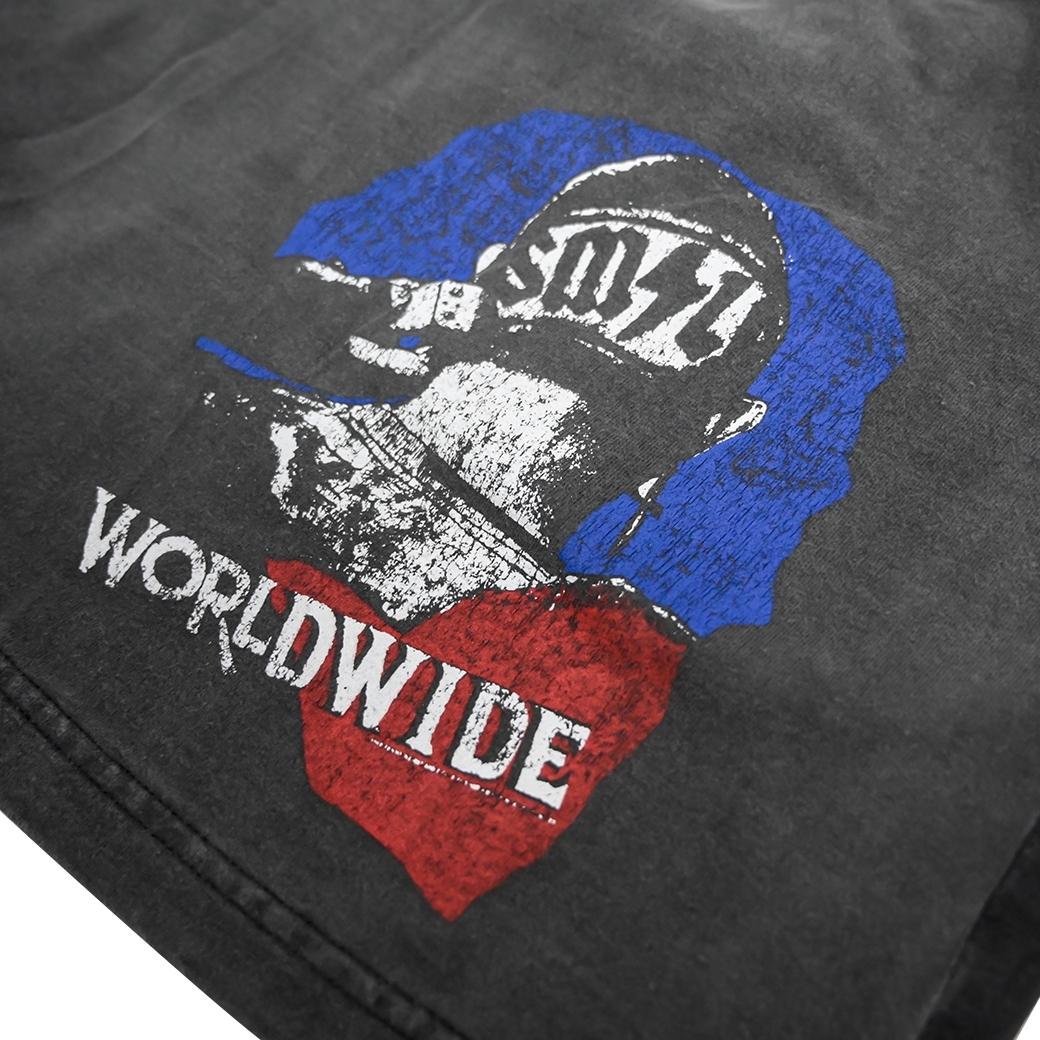 SMILE CLUB CUSTOM WORLDWIDE SHORTS BLACK