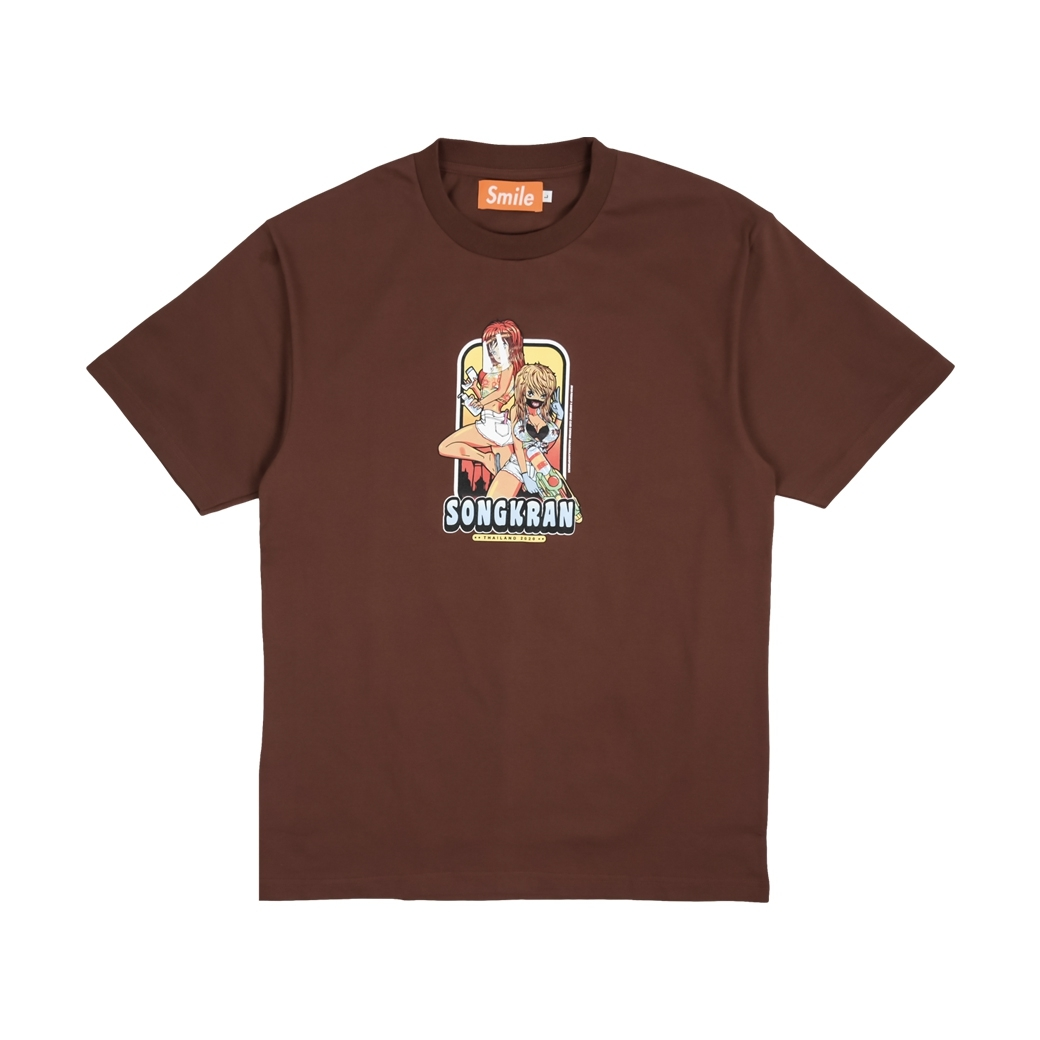 SMILE CLUB CUSTOM SONGKRAN TEE BROWN