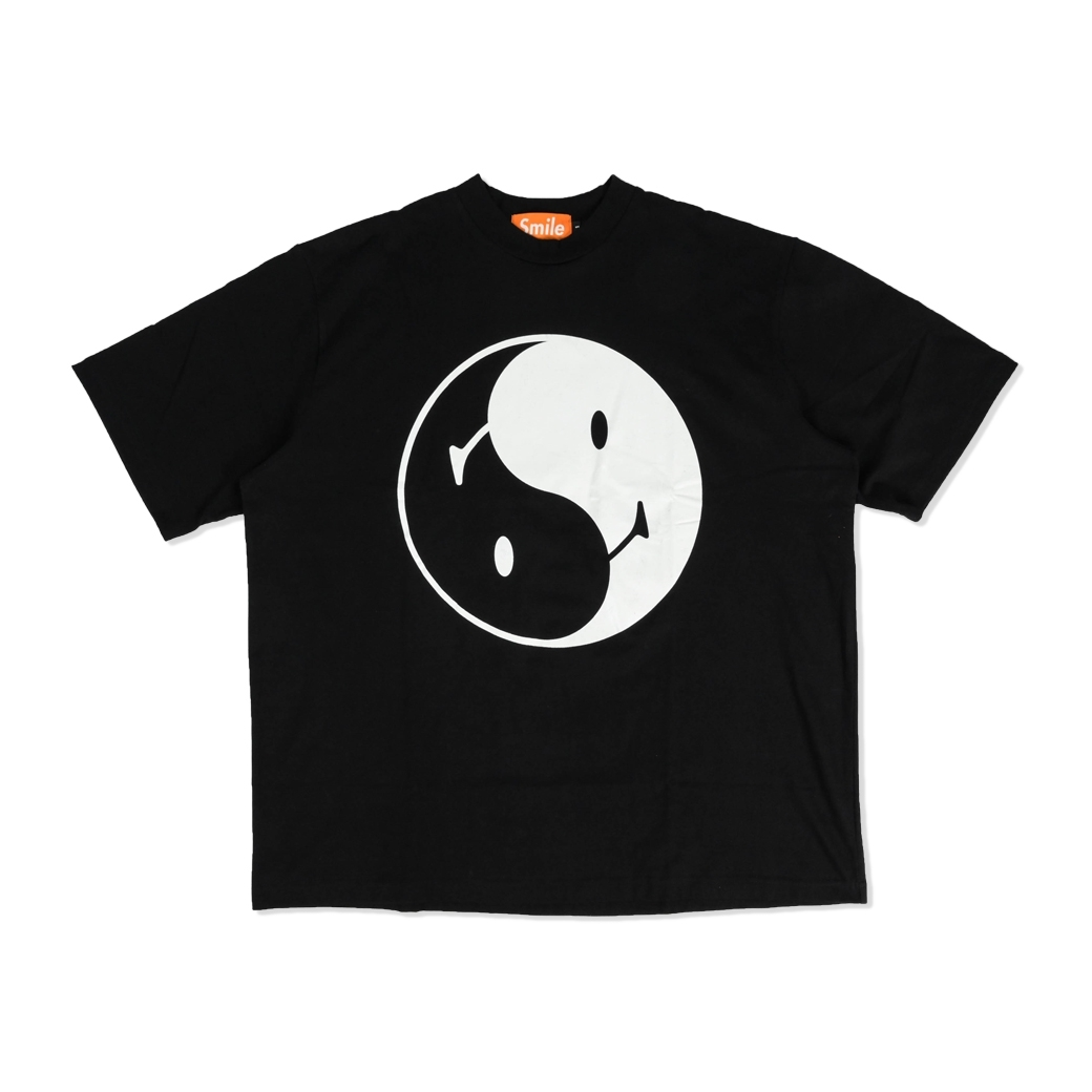 SMILE CLUB CUSTOM YIN YANG 10 ภาษา OVERSIZE TEE BLACK