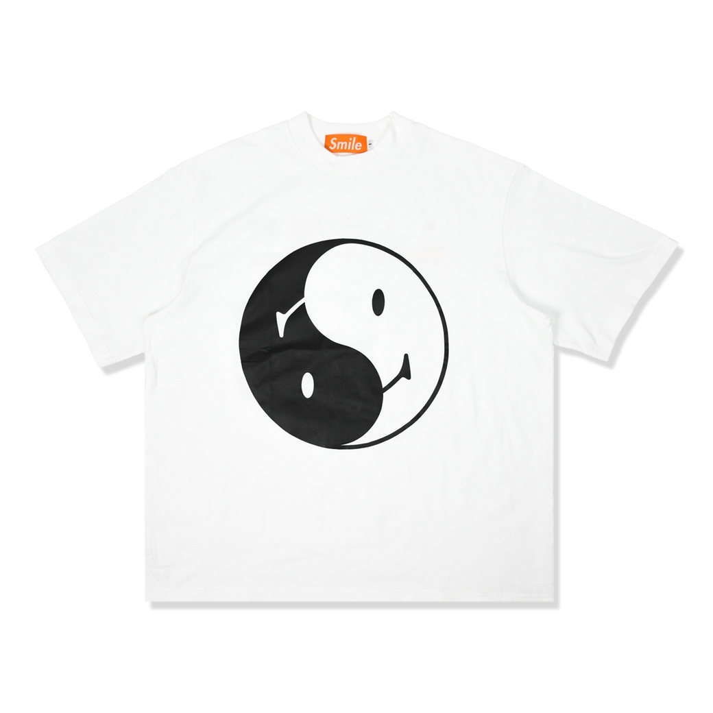 SMILE CLUB CUSTOM YIN YANG 10 ภาษา OVERSIZE TEE WHITE