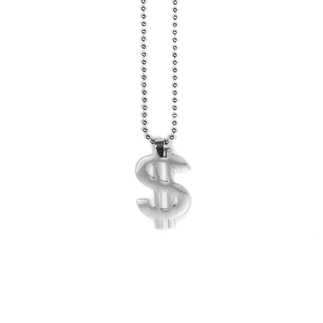SOLASTA DOLLAR SIGN NECKLACE SILVER