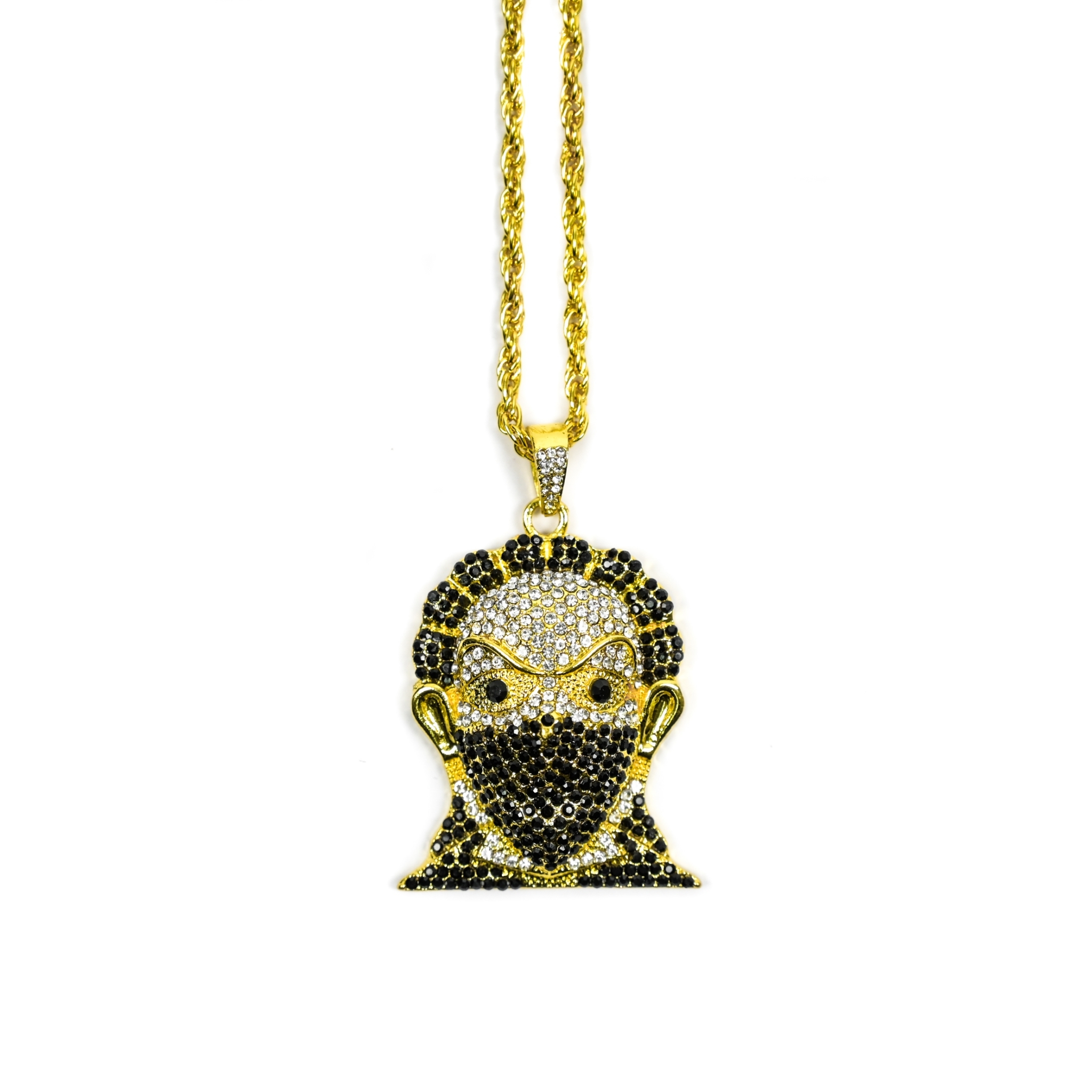 SOLASTA MAN WITH A MASK NECKLACE GOLD