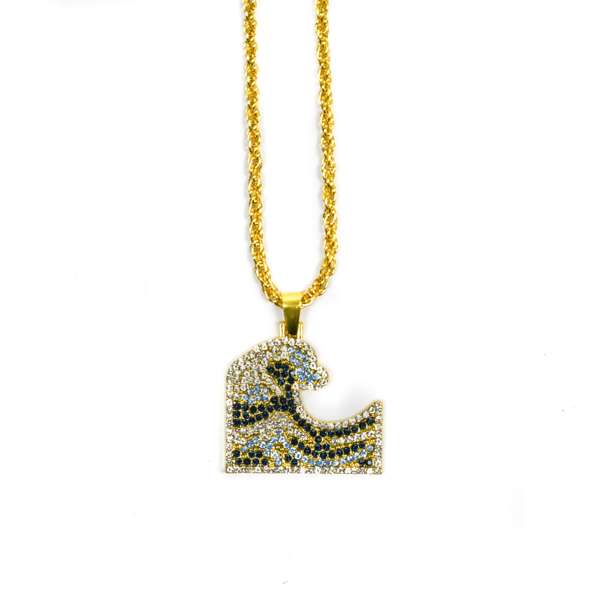 SOLASTA THE GREAT WAVE OF KANAGAWA NECKLACE GOLD
