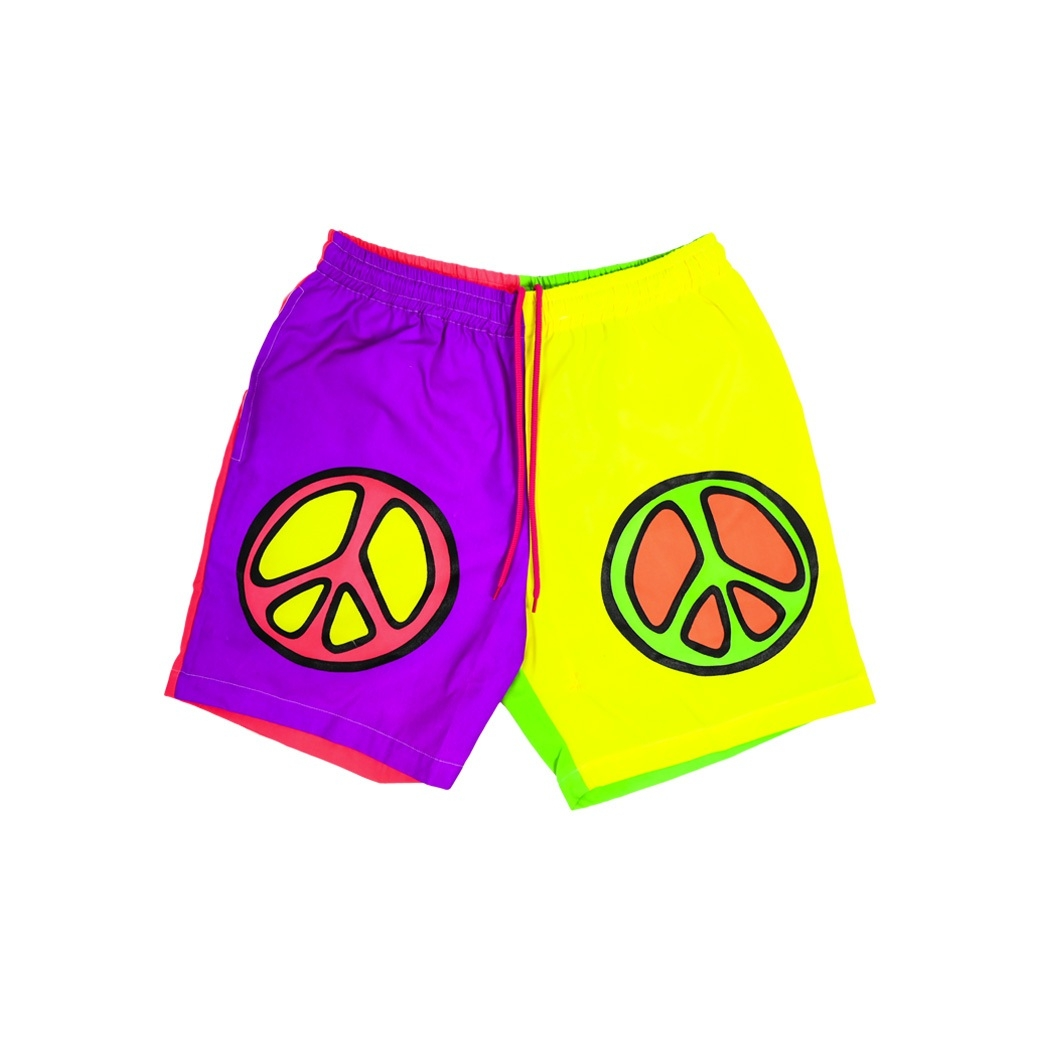 STUDIOSAY10 PEACE SHORTS MULTI