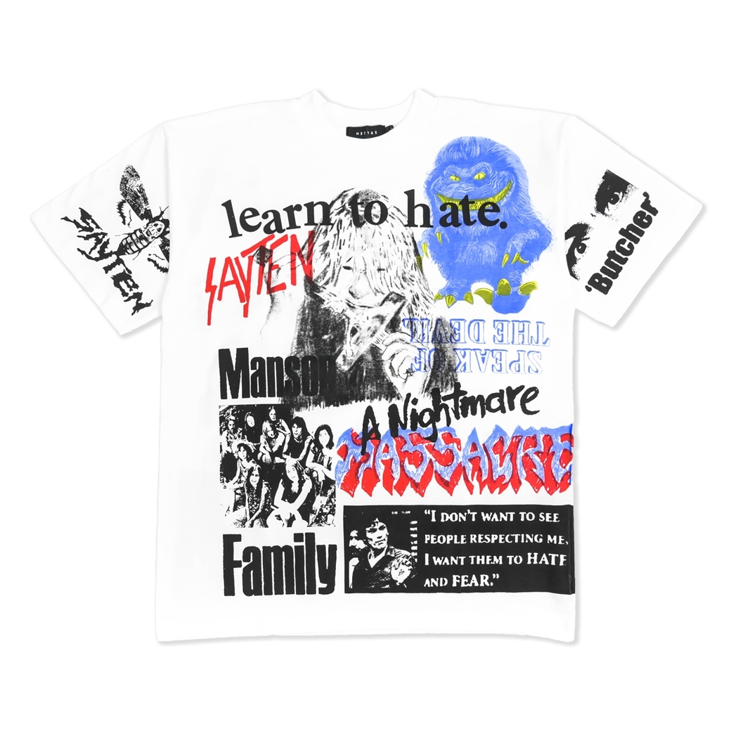 STUDIOSAY10 MASSACRE TEE WHITE