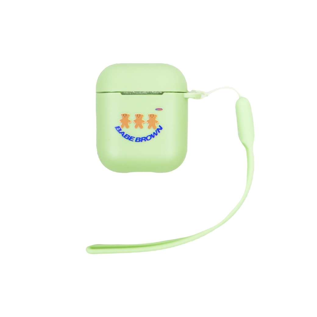 SUP.SNEAK BABE BROWN AIRPODS CASE GREEN