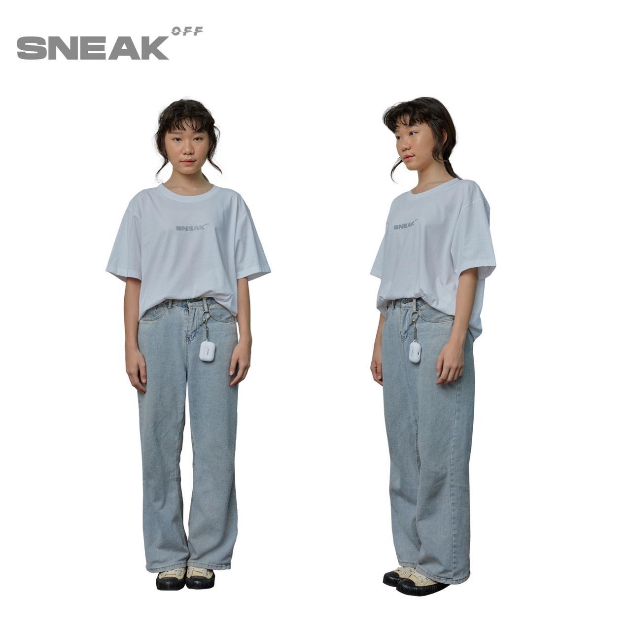 SUP.SNEAK SNEAK-OFF REFLECT TEE WHITE