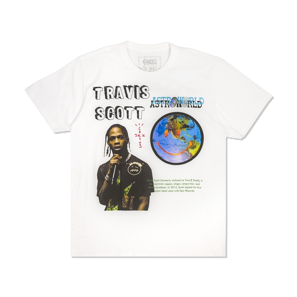 SWOG TRAVIS SCOTT ASTROWORLD T-SHIRT WHITE