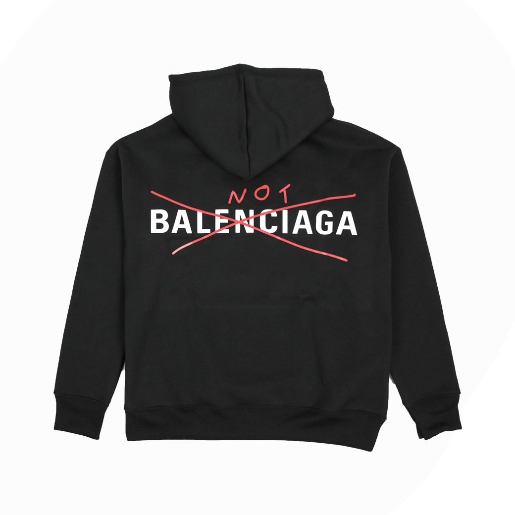 TOOMANY OPTIONS REAL NOT BALENCIAGA HOODIE BLACK