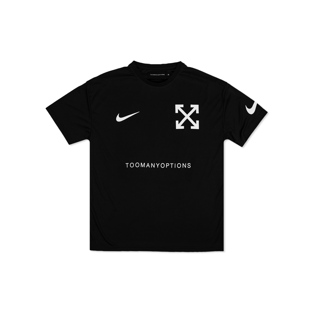 TOOMANY OPTIONS NO LOGO SOCCER JERSEY BLACK